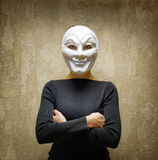 Woman in white mask Royalty Free Stock Image