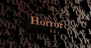 Horror - Wooden 3D rendered letters/message Royalty Free Stock Photos
