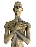 Horror Zombie. 3D rendering of a zombie in Pensive Pose Royalty Free Stock Photo