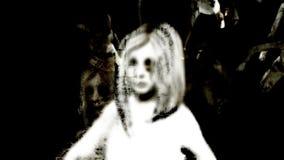 Horror-Zombie mit Effekten stock video footage