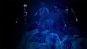 Horror-Zombie mit Effekten stock footage