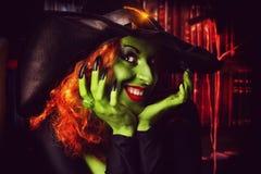 Horrordame Stockbild