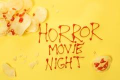 Horrorfilmnacht Lizenzfreie Stockbilder