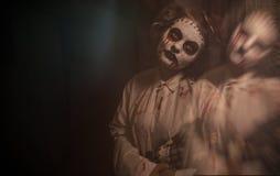 Horrorfilmszene stockbild