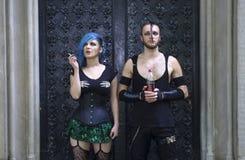 Horrorpunk夫妇 免版税库存照片