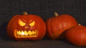Horroru Halloween lampion Zdjęcia Stock