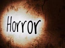 Horroru słowo na strasznym tle zdjęcia stock