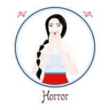 Horroru znak royalty ilustracja