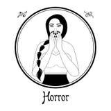 Horroru znak ilustracja wektor