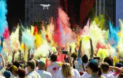 Horry paint race. Royalty Free Stock Images