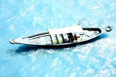Hors-bord au fleuve 5 de Musi Photos stock