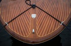 Hors-bord en bois classique Photographie stock libre de droits