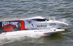Hors-bord GrandPrix de la formule 1 H2O Image stock