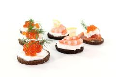 Hors d oeuvre Stock Photography