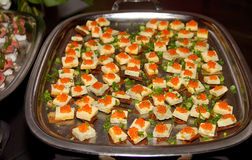 Hors d'oeuvres appetizers tray buffet Royalty Free Stock Photo