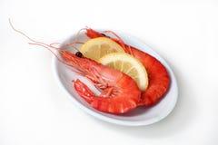 Hors-d'oeuvres de crevette rose. Photos libres de droits