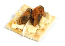 Hors d'oeuvres with mussel Royalty Free Stock Photography