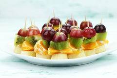 Hors d'oeuvres toothpicks Royalty Free Stock Images