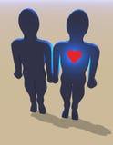 Hors de l'amour illustration libre de droits