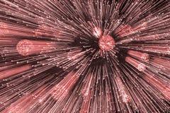 Hors des lumières de foyer roses image libre de droits