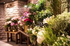 Hors du fleuriste Photographie stock