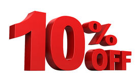 10% hors fonction Photo stock