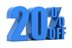 20% hors fonction Images libres de droits