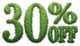 30% hors fonction Fait de l'herbe illustration de vecteur