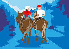 Hors riding Royalty Free Stock Photo