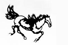 Horse. This is a picture of Chinese paper cutting. paper-cut is one of the traditional Chinese arts and crafts Royalty Free Stock Photo