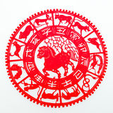 Horse. The paper cutting. The Chinese Zodiac Royalty Free Stock Photos
