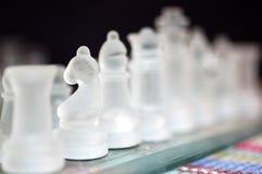 Horse. A selective focus on a chess piece, the horse Stock Photos