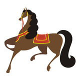 Horse 2. The brown horse skips forward. At it a black mane and a black tail. It very young Royalty Free Stock Images