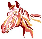 Horse. Isolated line art horse head image Royalty Free Stock Photography
