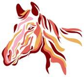 Horse. Isolated line art horse head image stock illustration