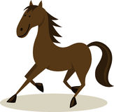 Horse. Vector illustration of running horse Stock Photos