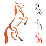 Horse. Vector Images of Horse Mascot Logo Royalty Free Stock Images