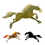 Horse. Vector Images of Horse Mascot Logo Stock Images
