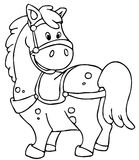 Horse. Cute little horse in line art Stock Image