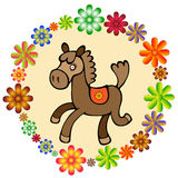 Horse. Fanny illustration of horse for children and adult Stock Illustration