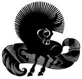 Horse. Vector illustration of blacke horse Royalty Free Stock Photos