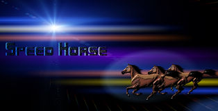 Horse with abstract Light Effect Background. Horse with abstract Background effect with light and space effect with a hint of retro Royalty Free Stock Photos