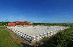 Horse academy. Resort with the large tilt-yard stock photo