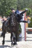 Horse acrobatics Stock Photo