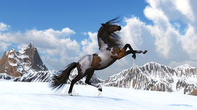 Horse against mountains Royalty Free Stock Image