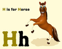 Horse with alphabet Royalty Free Stock Photography
