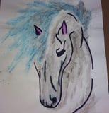 Horse. Amazing Horse Drawing royalty free stock photography