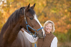 Free Horse And Woman Smiling Royalty Free Stock Photo - 8885865