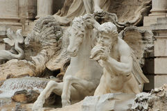 Horse and Angel at Trevi Fountain Stock Photos