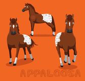 Horse Appaloosa Cartoon Vector Illustration Royalty Free Stock Photo